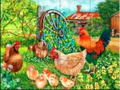 Farmyard Family-VS - Tile Mural