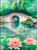 Waterlily Garden-VS - Tile Mural