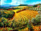Chianti Vineyards - MS - Tile Mural