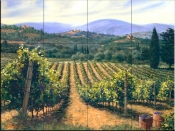 Tuscan Vines - MS - Tile Mural