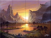 Break of Dawn - JR - Tile Mural