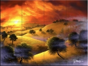 Foothills Sunset - JR - Tile Mural
