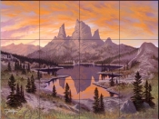 Heavenly Twilight - JR - Tile Mural
