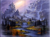 Misty Mountain Dream - JR - Tile Mural
