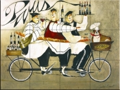 Paris Chefs-JG - Tile Mural