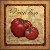 LC-Tuscan Tomatoes Distressed - Tile Mural