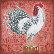 Roosters at Sunrise B - LC - Accent Tile