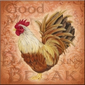 Rooster at Sunsrise D - LC - Accent Tile