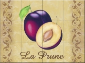 LC - The Plums - Tile Mural