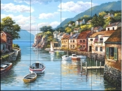 Village on the Water - SK - Tile Mural