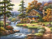 Mountain Creek Cabin - SK - Tile Mural