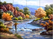 Fly Fishing - SK - Tile Mural