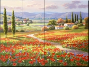 Poppy Fields - SK - Tile Mural