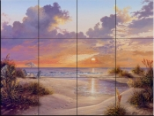 Paradise Sunset-KS - Tile Mural