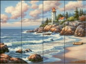 Kim's Lighthouse - SK - Tile Mural