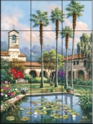 Palm Reflection - SK - Tile Mural