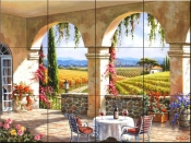 Wine Country Terrace- SK - Tile Mural