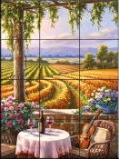 Vineyard & Violin - SK - Tile Mural