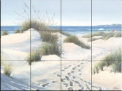 Beach Walk-ME - Tile Mural