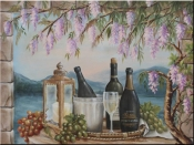 Wine and Wisteria-RB - Tile Mural
