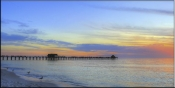 Calm Waters at the Naples Pier - SA - Tile Mural