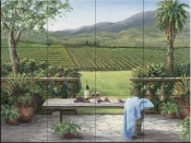Overlooking the Vineyard - BF - Tile Mural
