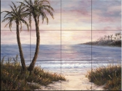 Palm Trees and Sand - BF - Tile Mural