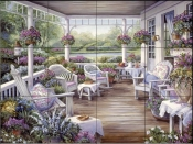Patio with Baskets - BF - Tile Mural