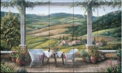 A Tuscany Moment - BF - Tile Mural