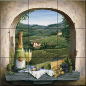 Champagne Dreams - BF - Tile Mural