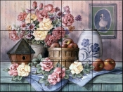 Birdhouse and Apples - TC - Tile Mural