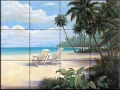 Tropical Bliss - TC - Tile Mural
