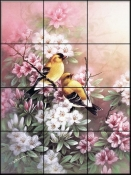 American Goldfinches - TC - Tile Mural