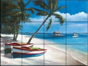 Two Boats - TC - Tile Mural