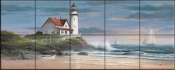 Lighthouse at Dusk - TC - Tile Mural