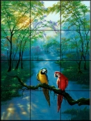 Colors of the Rainbow- JW - Tile Mural