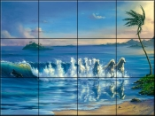 Galloping Waves - JW - Tile Mural
