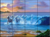 Wild Waves - JW - Tile Mural