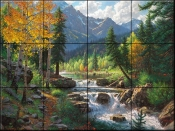 Mountain Melody - MK - Tile Mural