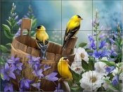 Goldfinch I - HP - Tile Mural