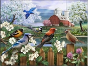 Spring Gathering I - HP - Tile Mural