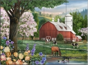 Spring Morning - HP - Tile Mural