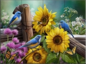 Sunflower Garden I - HP - Tile Mural