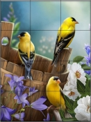 Goldfinch II - HP - Tile Mural