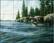 Summer Loon    - Tile Mural