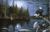Reflections - Eagle - Tile Mural