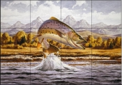 Cutthroat Trout    - Tile Mural