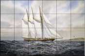 Schooner Atlantic - Tile Mural