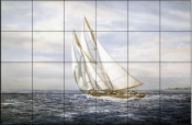 Going Fishing    - Tile Mural