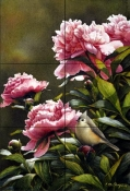 Peony Party    - Tile Mural